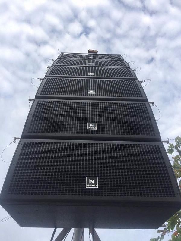 Loa Array Nanomax được sử dụng phổ biến ngoài trời
