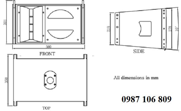 Mô hình Loa array Admark A-3A