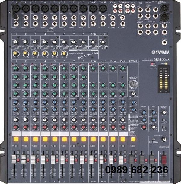 Bàn mixer Yamaha MG 166CX hiệu ứng âm thanh hấp dẫn